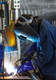 Steel welding industry Stock Photography