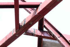 Steel welding to use for building structure royalty free stock image