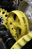 Steel wheel and gears. Stock Photo