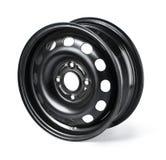 Steel wheel rim Royalty Free Stock Images