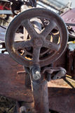 Steel wheel rusted on an Idaho farm Royalty Free Stock Image