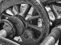 Steel Wheels Abstract Stock Photography