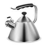 Steel whistling kettle Stock Photo