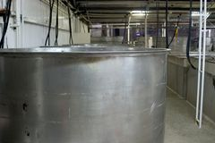 Steel Wine Vat Royalty Free Stock Photo