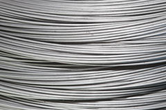 Steel wire coils close-up Stock Images