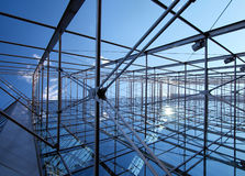 Steel wire construction Royalty Free Stock Image