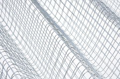 Steel wire grid. Abstract background Stock Image