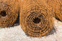 Steel wire mesh for concrete cement construction Royalty Free Stock Photo