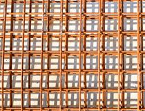 Steel wire mesh at construction site stock photo
