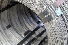 Steel Wire rod - Steel Coils. Coils of steel wire - steel rod royalty free stock photos