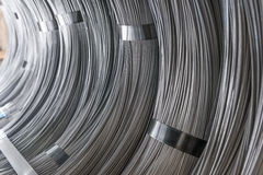Steel Wire rod - Steel Coils. Coils of steel wire - steel rod stock photos