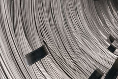 Steel Wire rod - Steel Coils. Coils of steel wire - steel rod stock photo