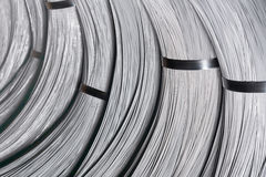 Steel Wire rod - Steel Coils. Coils of steel wire - steel rod stock photography