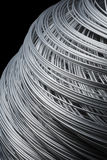 Steel Wire. Roll of steel wire in closeup Royalty Free Stock Photo