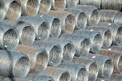 Steel wire roll Royalty Free Stock Photos