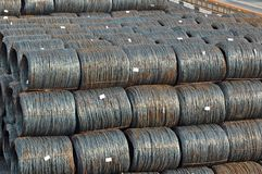 Steel wire roll Stock Image