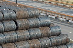 Steel wire roll Stock Photo
