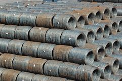 Steel wire roll Royalty Free Stock Image