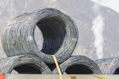 Steel Wire Rolls. Royalty Free Stock Image