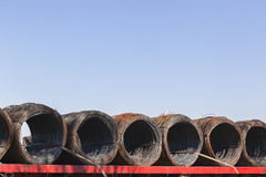 Steel Wire Rolls Stock Photography