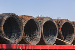 Steel Wire Rolls Royalty Free Stock Photo
