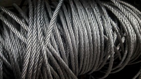 Steel wire rope, or cable. Stock Photos
