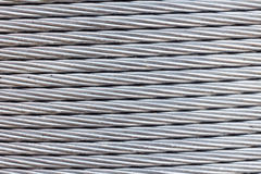 Steel wire rope cable background Royalty Free Stock Photography