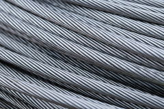Steel wire rope cable closeup Stock Photo