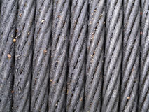 Steel Wire Rope. And grease Stock Image