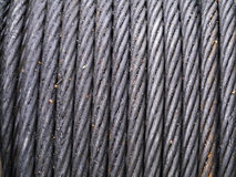 Steel Wire Rope. And grease Stock Photo