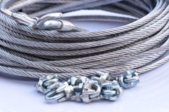 Steel Wire Rope and hook Royalty Free Stock Photo