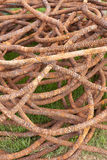 Steel Wire Rope old in harbor. At phuket thailand Stock Photos
