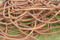 Steel Wire Rope old in harbor. At phuket thailand Stock Photography