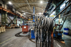 Steel wire rope sling Stock Photo