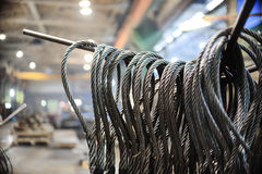 Steel wire rope sling Royalty Free Stock Image
