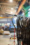 Steel wire rope sling Stock Image