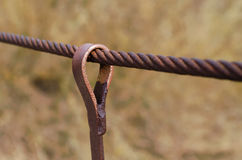 Steel wire rope Stock Image