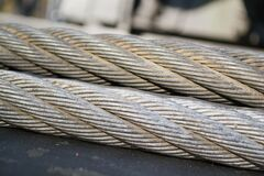 steel-wire-ropes Stock Image