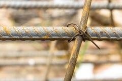 Steel wire tie Stock Photo