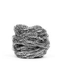 Steel Wire Wool. Isolated over white background stock photos