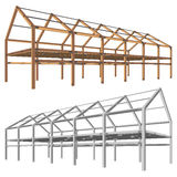 Steel and wooden building scheme  on white  Stock Images