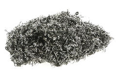 Steel Wool. Closeup of a steel wool pad royalty free stock images