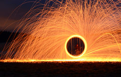 Steel Wool. I took this photo using steel wool Royalty Free Stock Photography