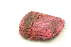 Steel wool abrasive soap pad Royalty Free Stock Photos