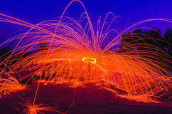 Steel Wool Royalty Free Stock Photography