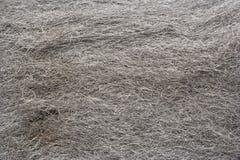Steel wool. Close up fibers Stock Photo