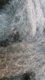 Steel wool. A close up of steel wool taken with phone royalty free stock images