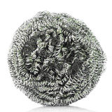Steel wool dishwashing Stock Photo