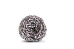 Steel wool dishwashing on a white background Royalty Free Stock Photo