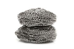 Steel wool. Isolated on white background stock image